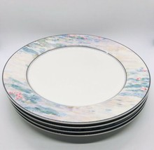 "SET of 4 Mikasa MONET: 10-3/4"" Dinner Plates Maxima Collection CAK01 Japan - $49.45"