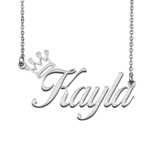 Kayla Name Necklace Tag with Crown for Best Friends Birthday Party Gift - $15.99