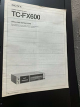 Original Owners Manual Sony TC-FX600 - $9.46