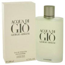 Giorgio Armani Acqua Di Gio Pour Homme Cologne 6.7 Oz Eau De Toilette Spray image 1