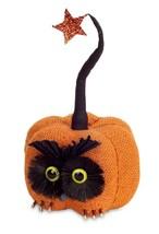 "Melrose 10"" Orange Black Burlap Owl Pumpkin Star Autumn Table Top Decor - $18.50"