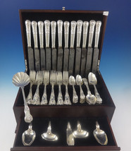 Kings English Sterling Silver Flatware Set for 12 Service 65 Pieces Dinner - $7,595.25