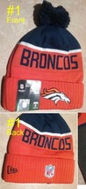 Denver Broncos Beanie New Era Winter Hat  Unisex Orange - $15.80