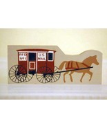 The Cats Meow Village  Horse Drawn Red RFD #1 Mail Cart Shelf Sitter - $2.76