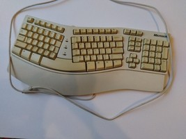 TESTED Microsoft Natural Keyboard Elite 5VDC-600MA ergonomic  PS2 - $49.99