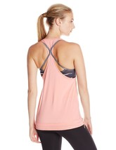 Puma Women's Active-wear Bubble  Salmon Rose Reflective Cat Logo Tank Top – M image 2