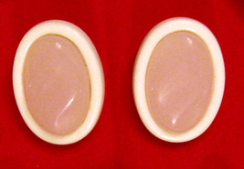 Avon Pink & White Pierced Earrings Lucite Plastic Hypo Allergenic Posts ... - $19.75
