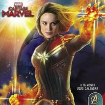 Marvel Comics Captain Marvel Movie 16 Month 2020 Wall Calendar NEW SEALED - £11.65 GBP