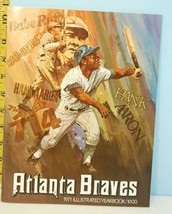 1971 Atlanta Braves Illustrated Baseball Yearbook Hank Aaron Babe Ruth C... - $34.65