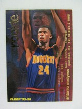 Antonio McDyess Denver Nuggets 1995 Fleer Basketball Card Number 298 Rookie - $0.98