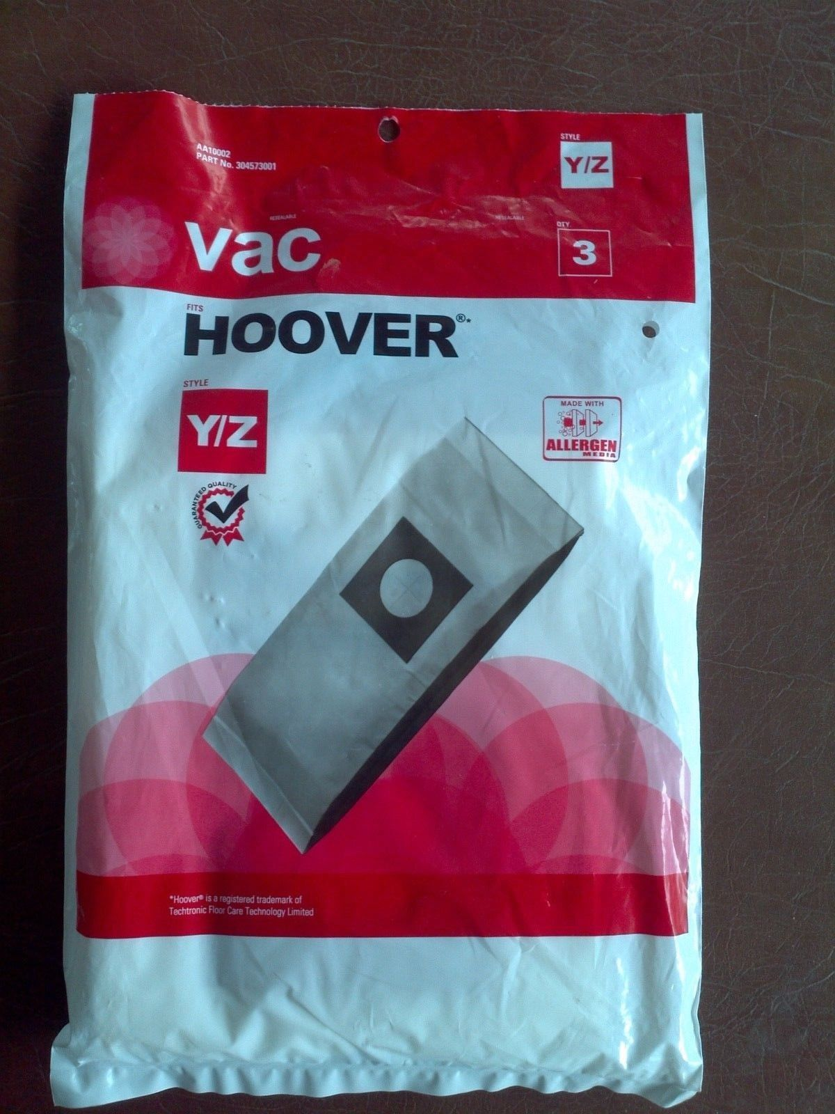 Hoover Upright Type Y/Z Paper Bags 3 Pk Part - AA10002, 304573001 - $11.53