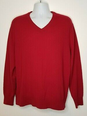 Primary image for Daniel Cremieux Mens XL sweater cashmere Signature Collection Red pullover