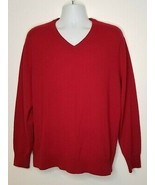 Daniel Cremieux Mens XL sweater cashmere Signature Collection Red pullover - $34.99