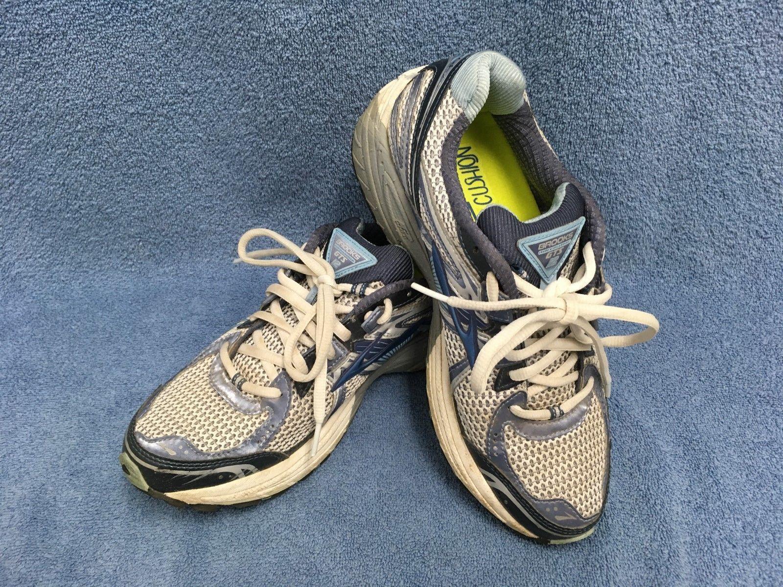 b0b399b9774a5 BROOKS ADRENALINE GTS 12 Womens Blue Gray Running Shoes Size 9.5 Narrow (2A)