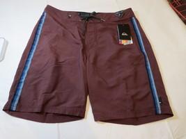 5481086fc4 Mens Quiksilver Boardshorts Board Shorts Swim Short 34 Vibes RSC0 Burgan...  - $32.66