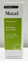 Murad Resurgence Renewing Eye Cream Full Size 0.5 Fl oz IN box  - $34.64