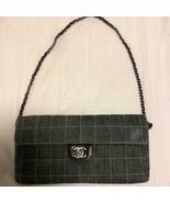 Auth Chanel Shoulder Bag Blue Denim Matelasse Chocolate Bar Logo Quilted... - $703.89