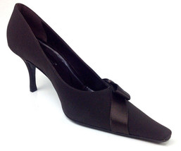 "Versani Womens Heels ""Crepe"" Color Brown Size 9.5 B - $54.44"