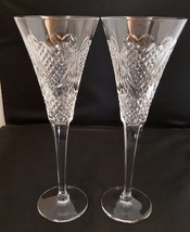 Waterford Crystal Champagne Flute Pair Celebration of Love - $93.49
