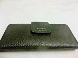 Fossil Sleek Clutch Wallet Black Leather 7 1/2 X 3 1/2 - $16.82