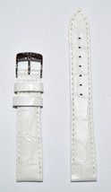 Original Tissot PR 100 LADY 16mm White Patent Leather Watch Band Strap T... - $65.12