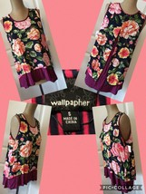 NEW! Wallpapher High Low Top Size Small Sleeveless Floral Rayon Retail $... - $8.90