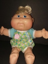 Cabbage Patch Kids Play Along Baby 2007 Blue Eyes Blonde Hair - $14.03