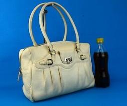 Auth Salvatore Ferragamo Ganchini White Leather Shoulder Bag Hand Bag Pu... - $197.01