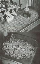 Pineapple Doilies Tablecloth Runner Luncheon Buffet Armchair Crochet Patterns  image 3