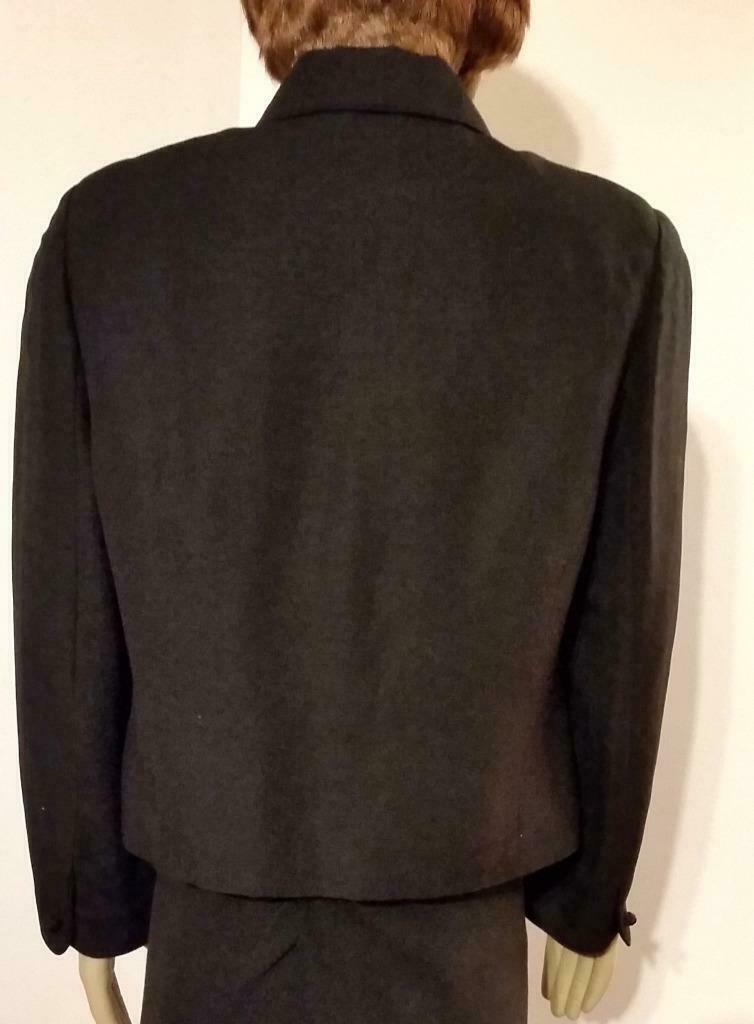 LAURA ASHLEY Black Linen Viscose Blazer Jacket 10 Knot Buttons UK 14