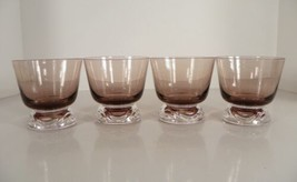 Fostoria Crystal HORIZON Cinnamon Sherbet Footed Tumbler (s) LOT OF 4 Glass - $23.71