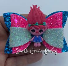 Poppy Clay Glitter Bow image 2