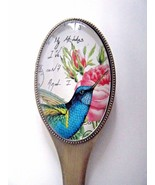Blue Humming Bird Design Letter Opener Bronze And Glass New In Gift Box - $19.75