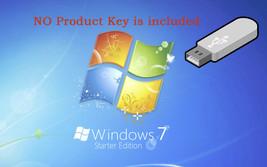 Microsoft Windows 7 Starter 32-BIT 32bit INSTALL RECOVERY REPAIR reinsta... - $14.01