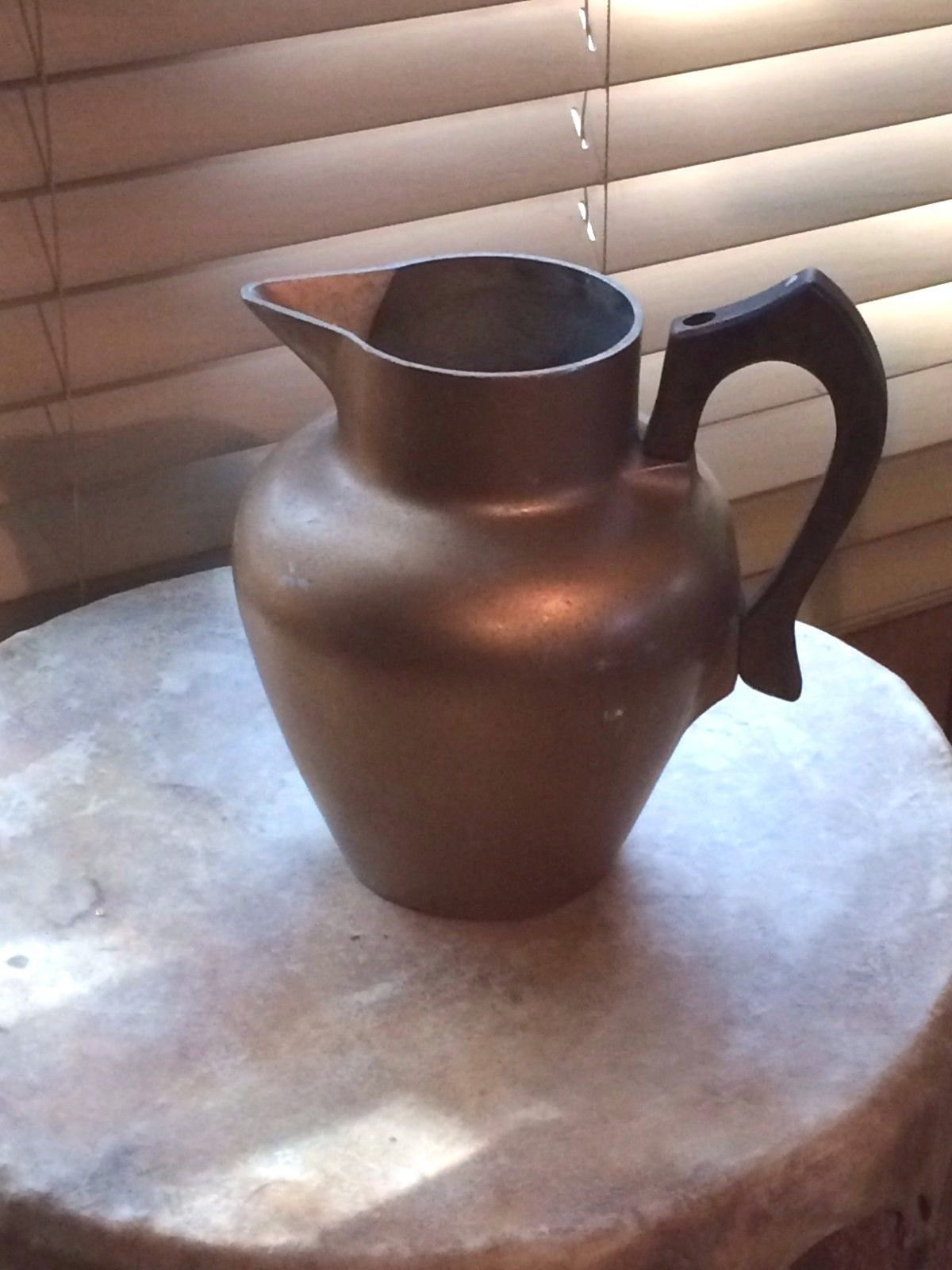 Vintage Gold CLUB Aluminum Pitcher with Wood Handle