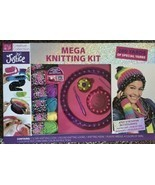 Justice: Mega Knitting/Loom Kit craft/hobby girls make/hat/scarf hand wr... - $29.00