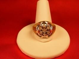 10K YG. CLUSTER DIAMOND RING, 0.25 CT. SIZE 91/2. ( MSRP $799.00 ) - $226.71