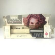 "Vtg Conair Supreme Professional Hot Brush 3/4"" w/ Case & Bonus Brush Anti Static - $24.74"