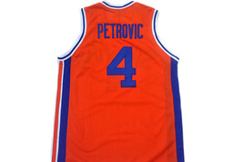 Drazen Petrovic #4 Sibenka Croatia Men Basketball Jersey Orange Any Size image 2