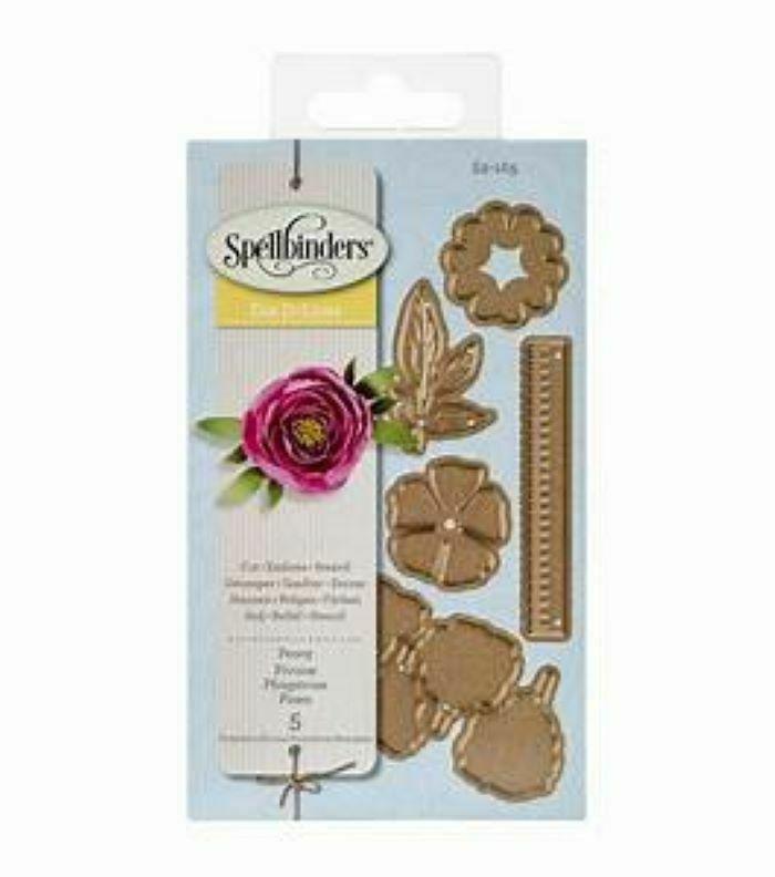 Spellbinders Die D-Lites Create a Flower Peony Die Set #S2-165