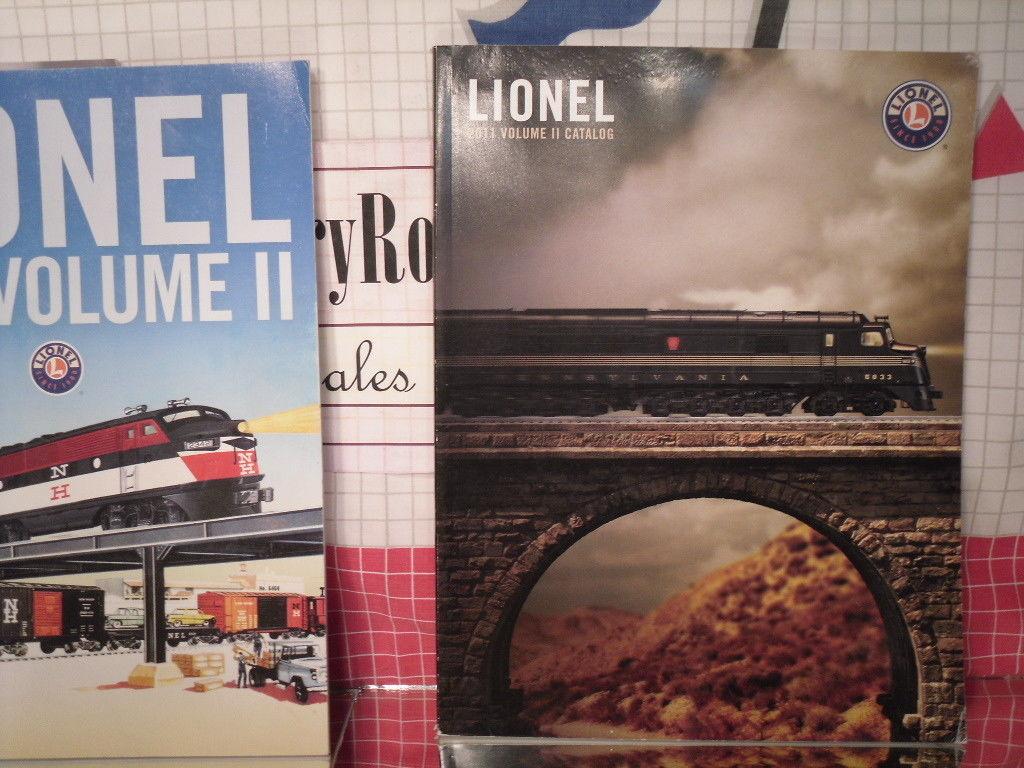 Toy Train Catalogs (3) Lionel Trains - 2009 Signature, Vol II, 2011 Vol II