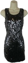 $128 NEW Express S P sequin dress cocktail party open back - $39.59