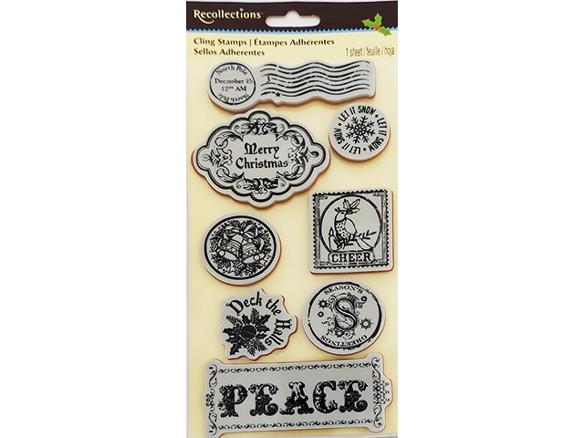 Recollections Christmas Stamp Set, 8 Pieces