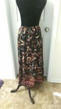 Robert Louis Soft Black  Long Stretch Paisley Skirt 2x may fit like 1x  - $20.79