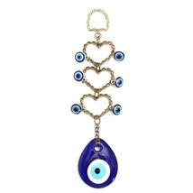 18.5cm Turkish Blue Glass EvilEye Amulet Wall Hanging Home Decoration Lu... - €12,08 EUR