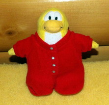 "Disney Club Penguin 7"" Plush Yellow in Red Dropseat Style Pajama Sleeper - $5.79"