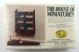 Vintage House Of Miniatures Chippendale Hanging Shelf #40032 New Sealed - $17.95