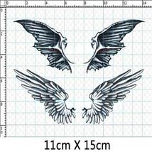 Set of 3 Fashion Angel&Demon Wings Body Tattoo Stickers Fake Temporary Tattoos