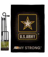 U.S. Army Burlap - Impressions Decorative Metal Garden Pole Flag Set GS108061-DB - $36.97