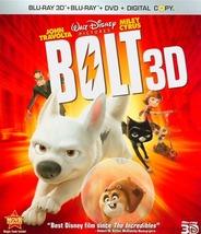 (Used) Disney's Bolt 3D Blu-ray 3D/2D/DVD Set / Artwork / Case - $12.99